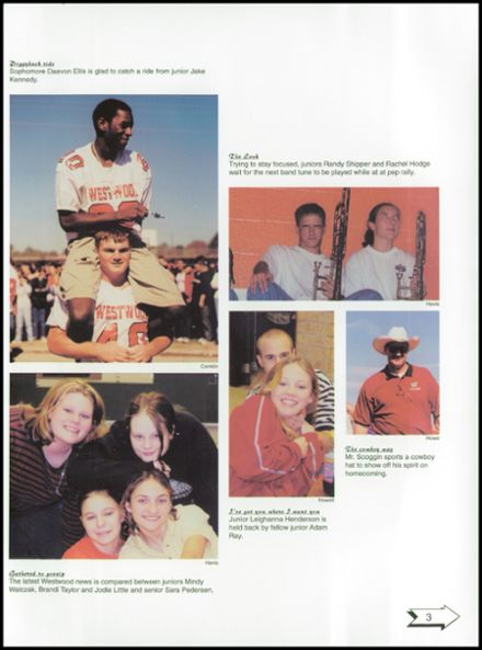 2001 Westwood High School Yearbook Page 7