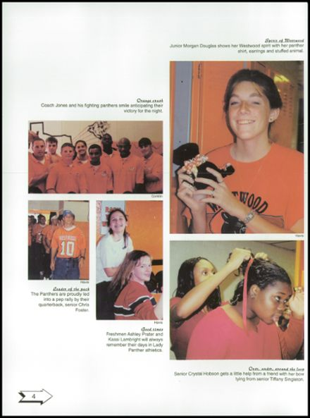 2001 Westwood High School Yearbook Page 8