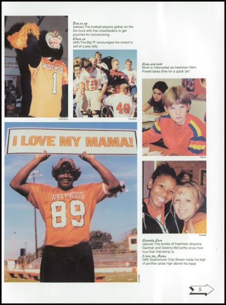 2001 Westwood High School Yearbook Page 9