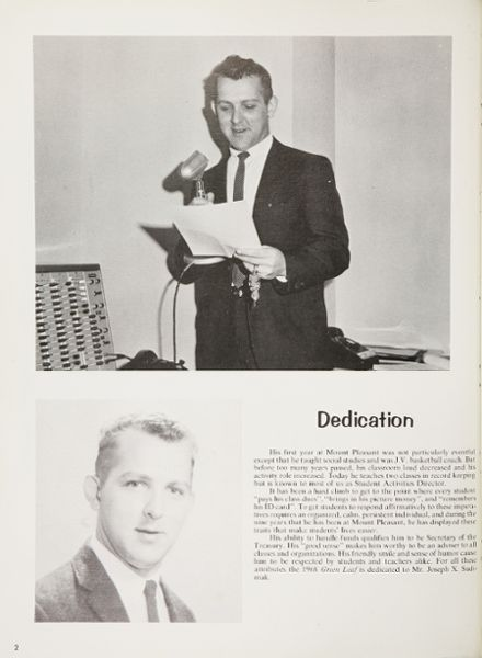 1968 Mt. Pleasant High School Yearbook Page 6