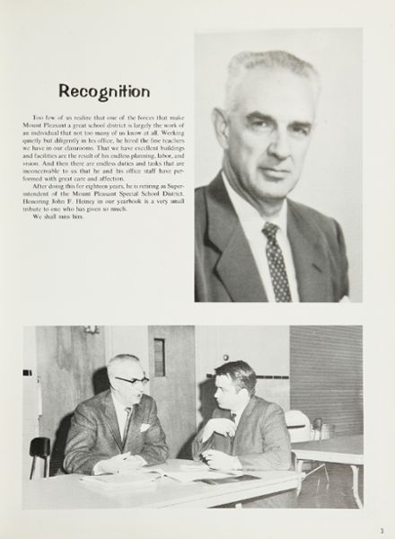 1968 Mt. Pleasant High School Yearbook Page 7