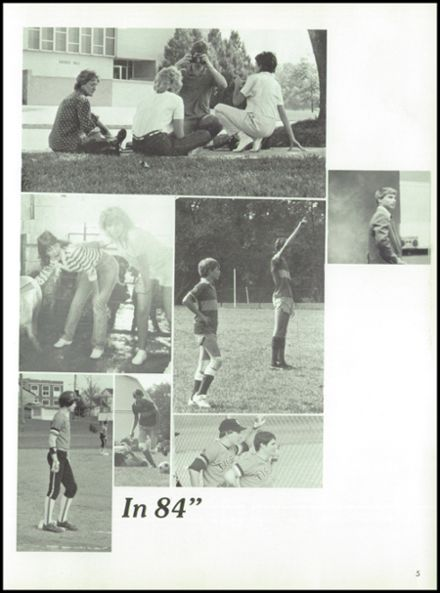 1985 West Liberty-Salem High School Yearbook Page 9