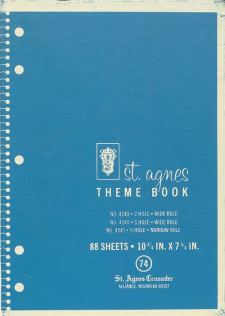 1974 St. Agnes Academy Yearbook Cover