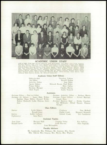 1954 Waterville High School Yearbook Page 6