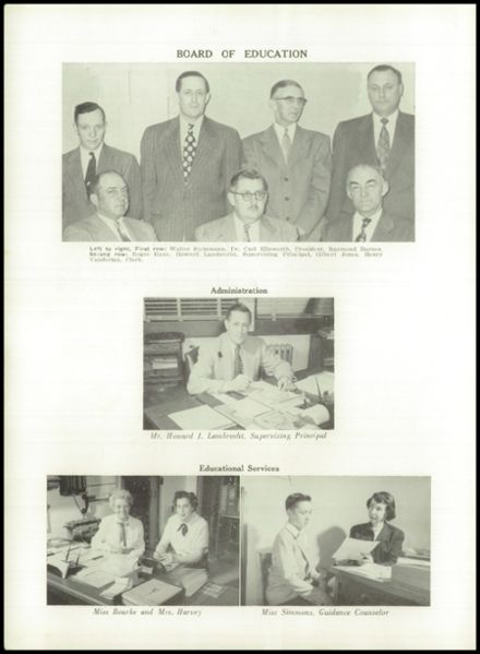 1954 Waterville High School Yearbook Page 8