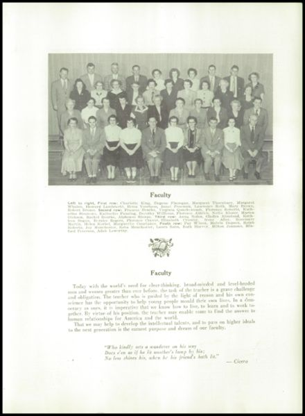 1954 Waterville High School Yearbook Page 9