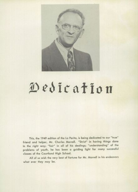 1949 Courtland High School Yearbook Page 6