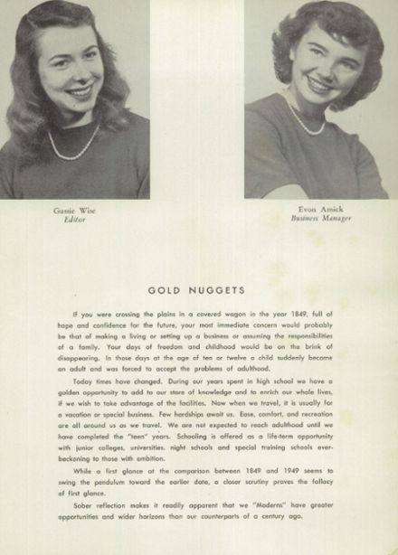 1949 Courtland High School Yearbook Page 8