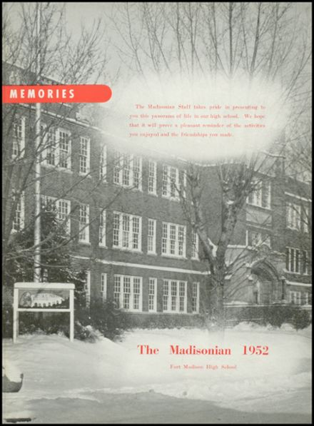 1952 Ft. Madison High School Yearbook Page 7