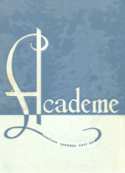 1956 Academy High School Yearbook Cover