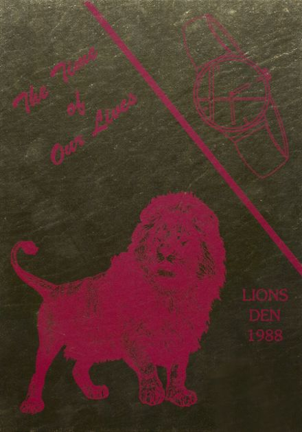 1988 New Boston High School Yearbook Cover