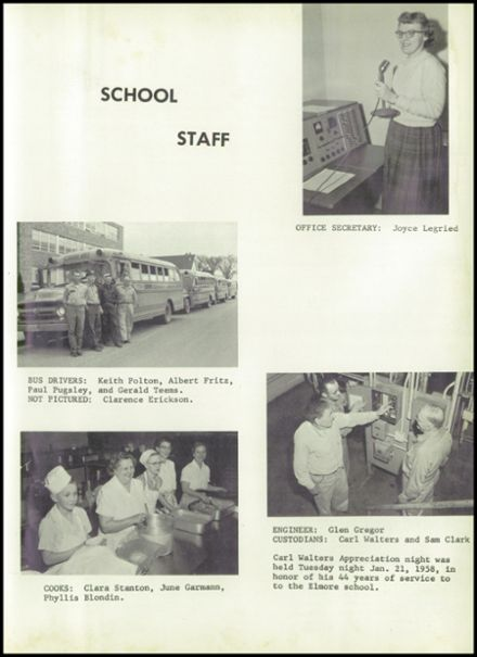 1958 Elmore High School Yearbook Page 9