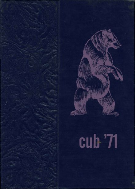 1971 Cando High School Yearbook Cover