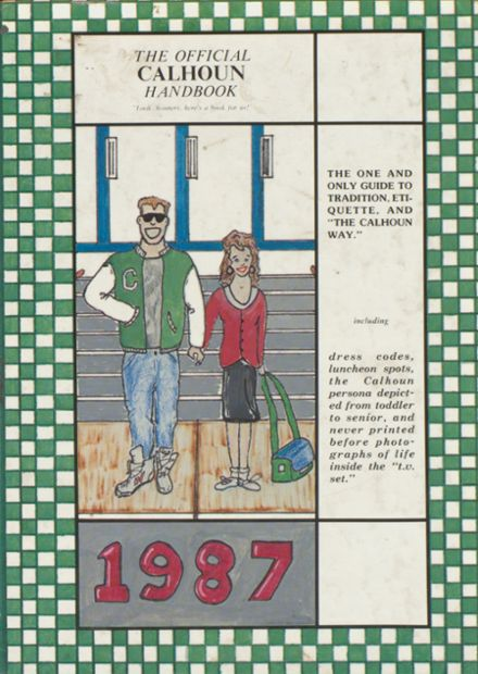 1987 Calhoun School Yearbook Cover