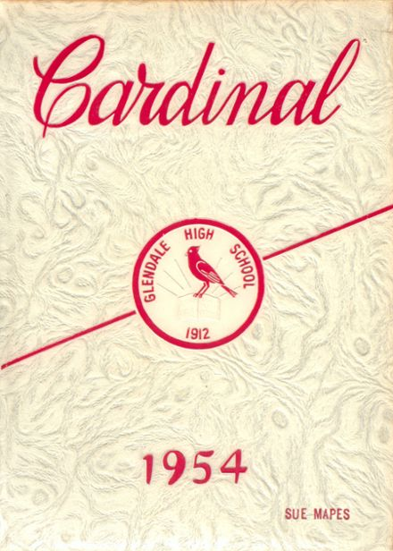 1954 Glendale High School Yearbook Cover