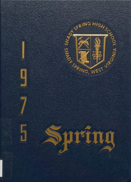 1975 Shady Spring High School Yearbook Cover