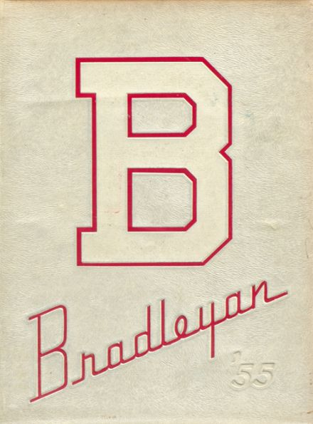 1955 Bradley-Bourbonnais High School Yearbook Cover