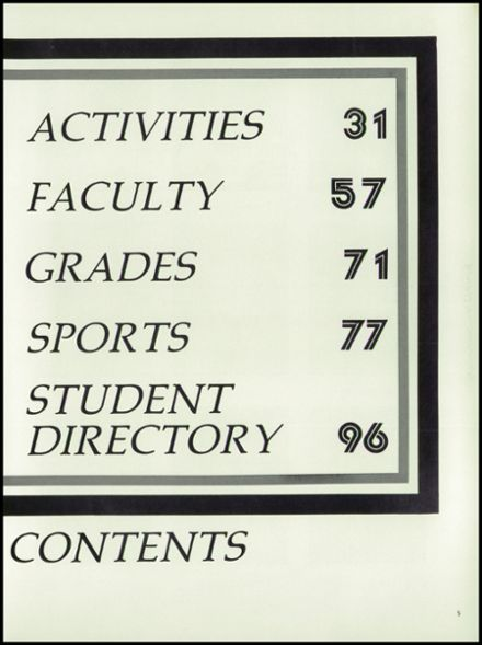 1980 Parker High School Yearbook Page 9