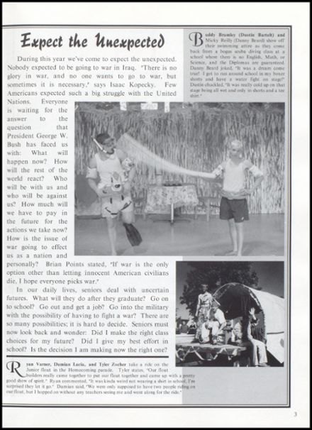 2003 Rib Lake High School Yearbook Page 7