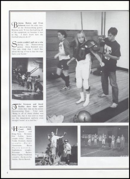 2003 Rib Lake High School Yearbook Page 8
