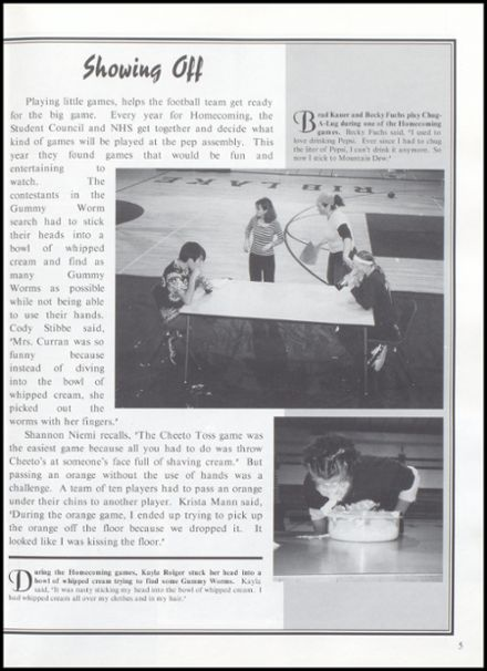 2003 Rib Lake High School Yearbook Page 9