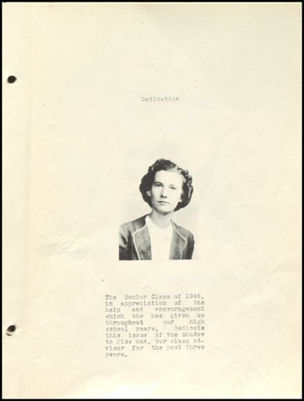 1946 Ridgeville High School Yearbook Page 5