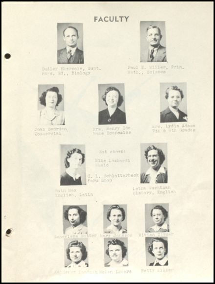 1946 Ridgeville High School Yearbook Page 9