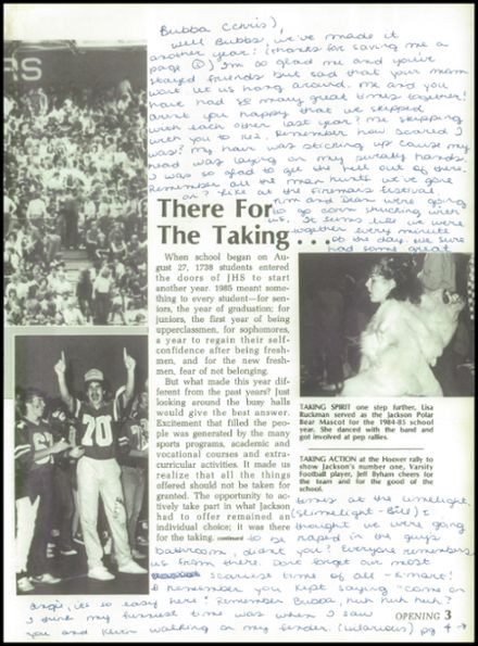 1985 Jackson High School Yearbook Page 7