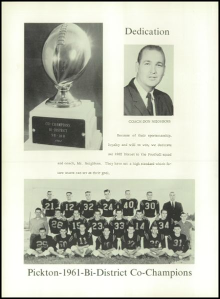 1962 Pickton High School Yearbook Page 6