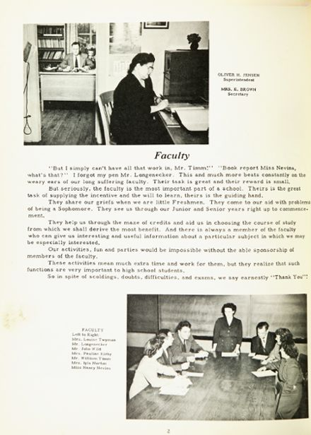 1950 Marcellus High School Yearbook Page 6