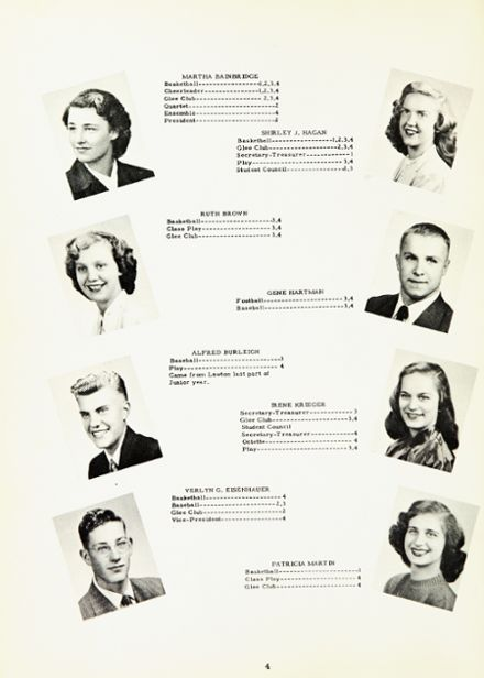 1950 Marcellus High School Yearbook Page 8