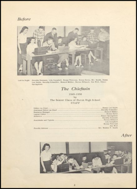 1950 Huron Consolidated High School Yearbook Page 6