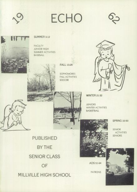 1962 Millville Area High School Yearbook Page 5