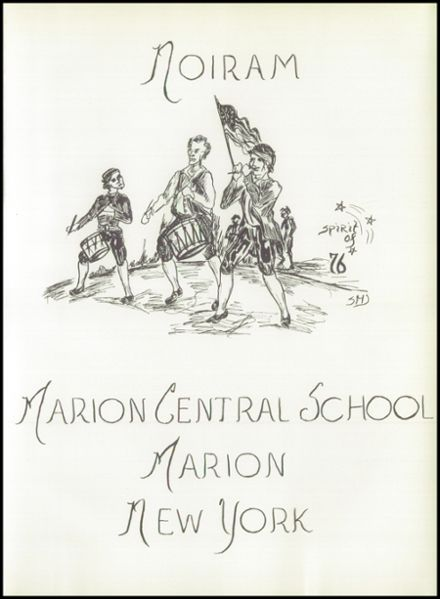 1976 Marion High School Yearbook Page 5