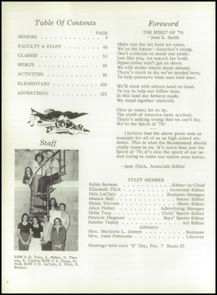1976 Marion High School Yearbook Page 6