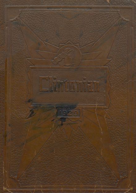 1929 Clinton High School Yearbook Cover
