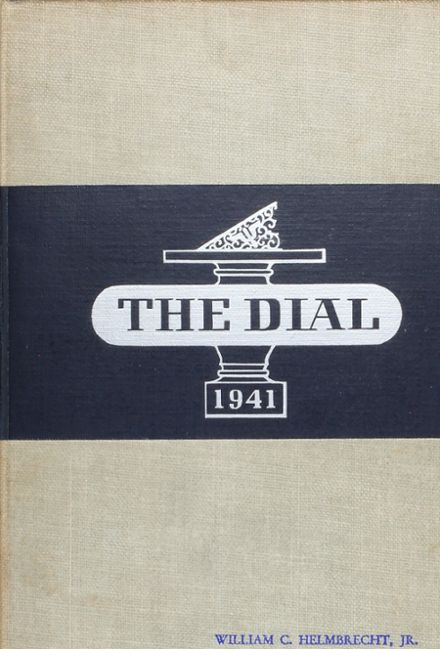 1941 The Hill School Yearbook Cover