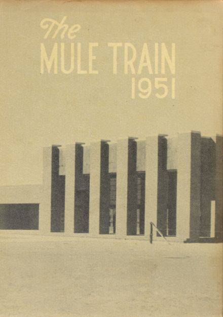 1951 Muleshoe High School Yearbook Cover