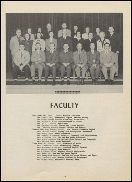 1948 New Milford High School Yearbook Page 9