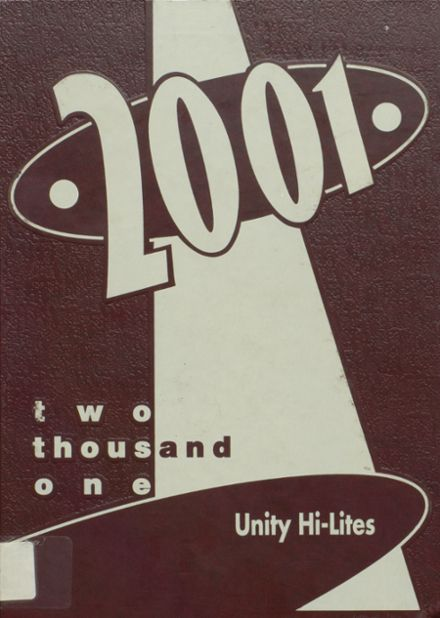 2001 Unity High School Yearbook Cover