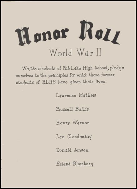 1946 Rib Lake High School Yearbook Page 7