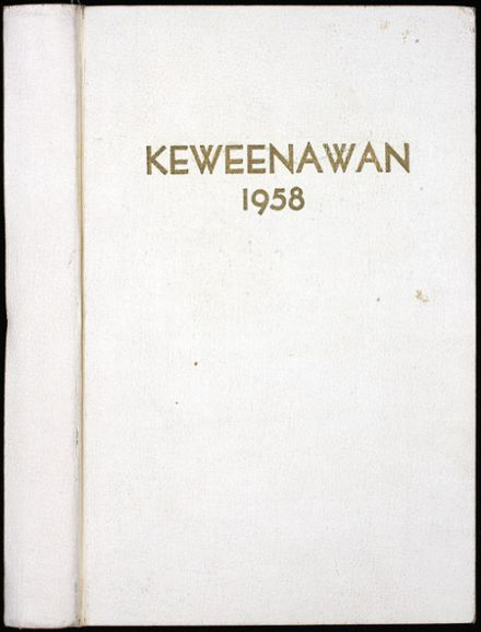 1958 Michigan Technological University Yearbook Cover