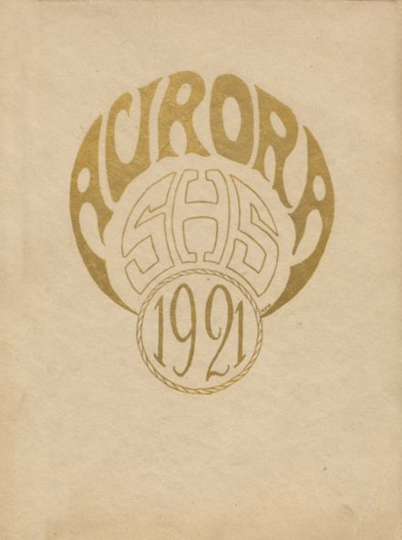 1921 Saginaw High School Yearbook Cover
