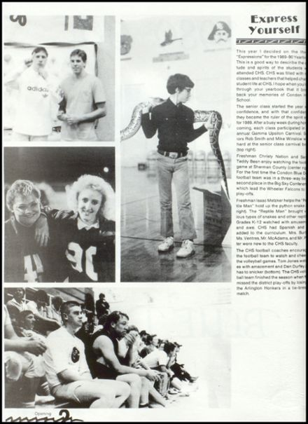 1990 Condon High School Yearbook Page 6