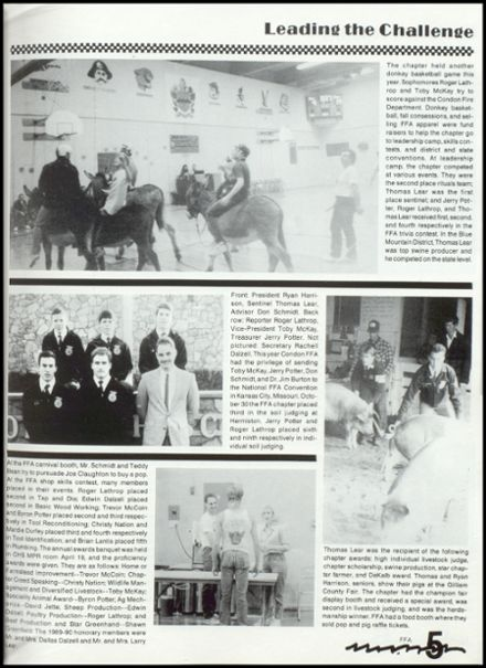 1990 Condon High School Yearbook Page 9
