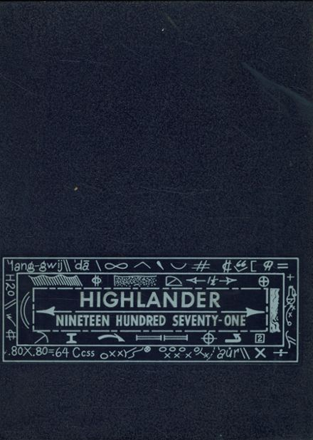 1971 Highland Springs High School Yearbook Cover