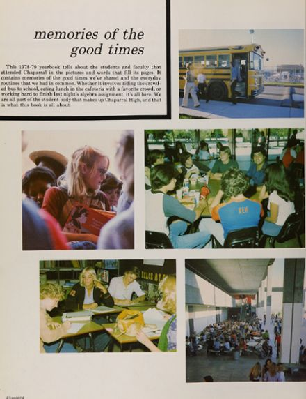 1979 Chaparral High School Yearbook Page 8