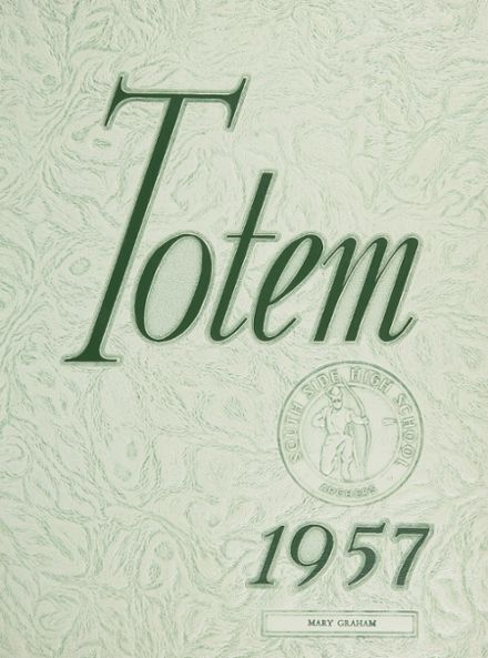 1957 South Side High School Yearbook Cover
