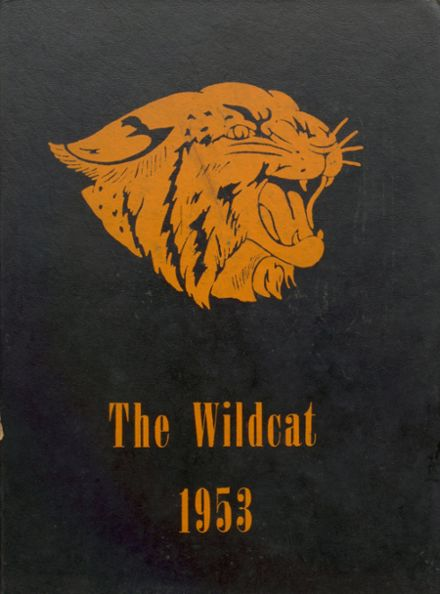 1953 Cunningham High School Yearbook Cover