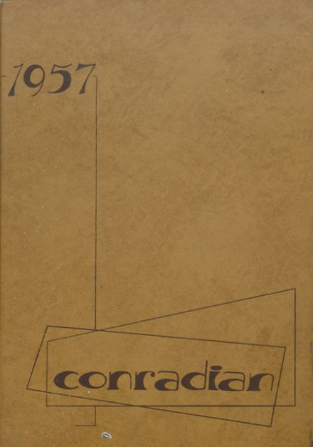 1957 Conrad High School Yearbook Cover